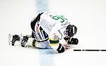 Stockholm 2014-11-16 Ishockey Hockeyallsvenskan AIK - IF Bj&ouml;rkl&ouml;ven :  <br /> Bj&ouml;rkl&ouml;vens Tommy Wargh bl&ouml;der f&aring;r ansiktet efter en situation med AIK-spelare under matchen mellan AIK och IF Bj&ouml;rkl&ouml;ven <br /> (Foto: Kenta J&ouml;nsson) Nyckelord:  AIK Gnaget Hockeyallsvenskan Allsvenskan Hovet Johanneshov Isstadion Bj&ouml;rkl&ouml;ven L&ouml;ven IFB skada skadan ont sm&auml;rta injury pain