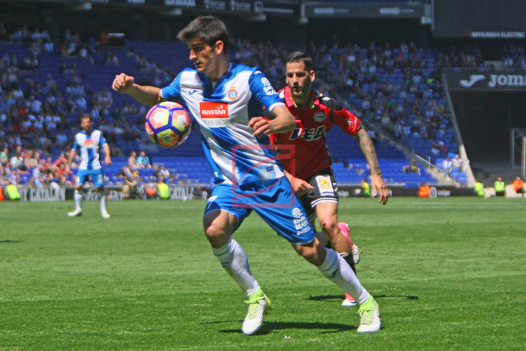 League Santander 2016/2017. Game: 31.<br /> RCD Espanyol vs Deportivo Alaves: 1-0.<br /> Gerard Moreno vs Edgar.