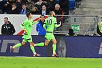 01.12.2018, wirsol Rhein-Neckar-Arena, Sinsheim, GER, 1 FBL, TSG 1899 Hoffenheim vs FC Schalke 04, <br /> <br /> DFL REGULATIONS PROHIBIT ANY USE OF PHOTOGRAPHS AS IMAGE SEQUENCES AND/OR QUASI-VIDEO.<br /> <br /> im Bild: Nabil Bentaleb (FC Schalke 04 #10) jubelt mit Alessandro Sch&ouml;pf / Schoepf (FC Schalke 04 #28) ueber sein Tor zum 1:1<br /> <br /> Foto &copy; nordphoto / Fabisch