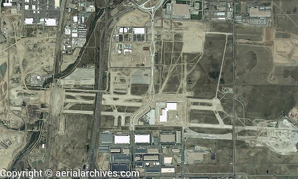 aerial map abandoned Stapleton airport, Denver, Colorado