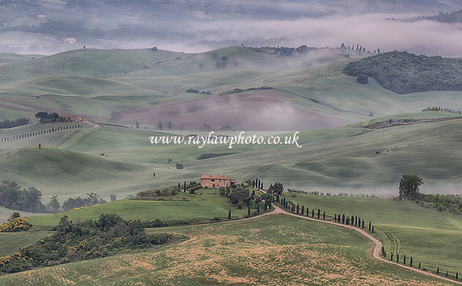 From the window of the Hotel il Chiostro di Pienza - Tuscany  - 08/05/16 - MANDATORY CREDIT:  Ray Lawrence Photography, www.raylawphoto.co.uk  - Self billing applies where appropriate -info@raylawphoto.co.uk, 07774985144  - NO UNPAID USE