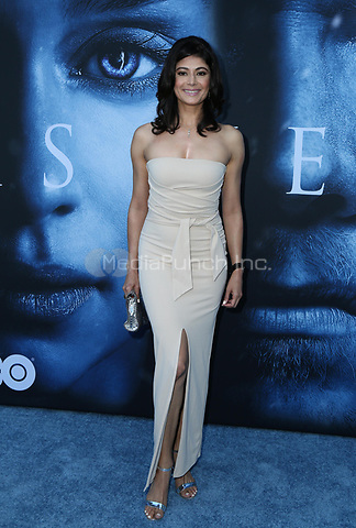 "LOS ANGELES, CA July 12- Pooja Batra,  At Premiere Of HBO's ""Game Of Thrones"" Season 7 at The Walt Disney Concert Hall, California on July 12, 2017. Credit: Faye Sadou/MediaPunch"