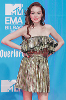 BILBAO, SPAIN-November 04: Lindsey Lohan attend the EMA 2018 at BEC (Bilbao Exhibition Center) in Bilbao, Spain on the 4 of November of 2018. November04, 2018.  ***NO SPAIN*** <br /> CAP/MPI/RJO<br /> &copy;RJO/MPI/Capital Pictures
