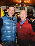 Gisty Donough pictured with Fifth overall and a stage winner in the Vuelta a Espana (Tour of Spain) Nicolas Roche when he paid a visit to Quay Cycles Drogheda. Photo:Colin Bell/pressphotos.ie