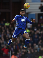 David Davis of Birmingham heads the ball during the Sky Bet Championship match between Aston Villa and Birmingham City at Villa Park, Birmingham, England on 11 February 2018. Photo by Bradley Collyer/PRiME Media Images.