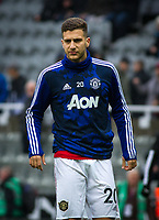 Diogo Dalot of Man Utd pre match during the Premier League match between Newcastle United and Manchester United at St. James's Park, Newcastle, England on 6 October 2019. Photo by J GILL / PRiME Media Images.