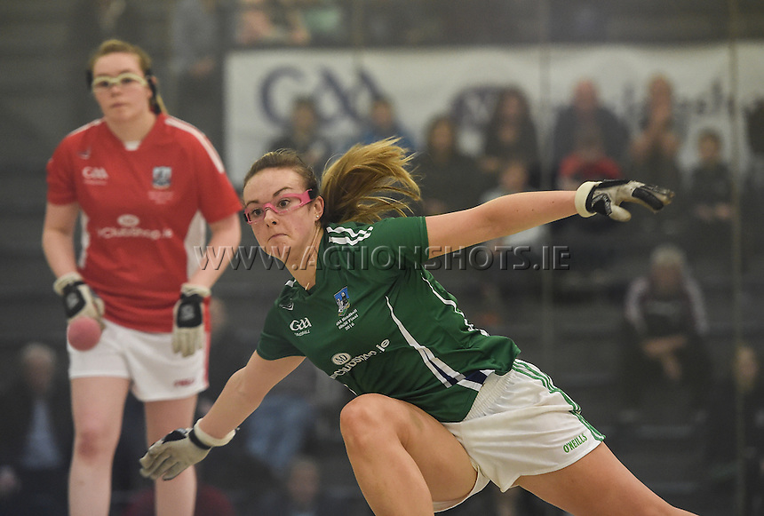 24/09/2016;Myclubshop.ie All-Ireland Handball 60x30 Championship, Ladies Doubles Final, Catriona Casey and Aishling O&rsquo;Keeffe (Cork) vs Martina McMahon and Katie McCarthy (Limerick);GAA Handball Center, Croke Park,Dublin<br /> Martina McMahon, Limerick.<br /> Photo Credit: actionshots.ie/Tommy Grealy