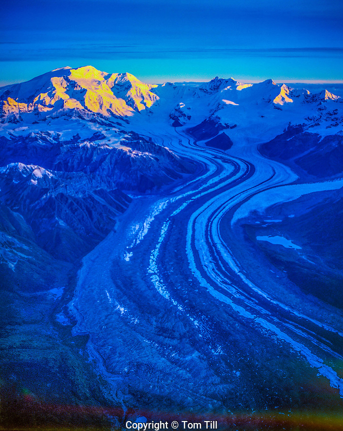 Peaks of the Wrangell Mountains Wrangell St. Elias National Park and Preserve, Alaska Wrangell/st. Elias Wilderness Kennicott Glacier/ Mt. Blackburn