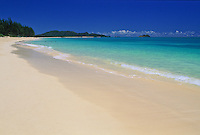 The smooth white sands of Waimanalo Beach, windward Oahu