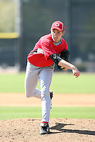 Daniel Tuttle, Cincinnati Reds minor league spring training..Photo by:  Bill Mitchell/Four Seam Images.