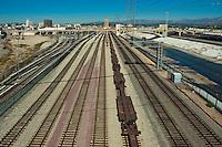 Fourth Street, Concrete Span, Bridge, Railroad Yard, Tracks, Electric, Transmission, Towers, Los Angeles, River