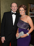 Pat and Roisín Hughes pictured at the Fingal Harriers Hunt Ball held in the d hotel Drogheda. Photo:Colin Bell/pressphotos.ie