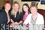 QUESTIONS: Listening to the questions at the Kerins O'Rahillys GAA Club Table Quiz for the Dunmore East Boat Tragedy on Friday night, were Trish Moran, Melissa Ryan, Sorcha Ryan and Dolly Molloy..