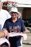 "Henley on Thames, United Kingdom, 3rd July 2018, Saturday,  ""Henley Royal Regatta"",  Leander Club, celebrating Leander 200 year row past,  Mark BANKS View, Henley Reach, River Thames, Thames Valley, England, UK."