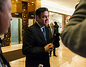 United States Representative Raúl Labrador (Republican of Idaho) speaks with the press in the lobby of Trump Tower in New York, NY, USA following his meeting with US President-elect Donald Trump on December 12, 2016. <br /> Credit: Albin Lohr-Jones / Pool via CNP