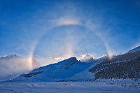 Halo at Athabasca Glacier, Jasper National Park, Alberta, Canada