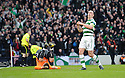 CELTIC'S SCOTT BROWN CELEBRATES AFTER HE SCORES CELTIC'S FIRST