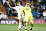 Real Madrid's Danilo da Silva (l) and Villareal's Denis Suarez during La Liga match. April 20,2016. (ALTERPHOTOS/Acero)