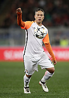 Football Soccer: UEFA Champions League  Round of 16 Second Leg, AS Roma vs FC Shakhtar Donetsk, Stadio Olimpico Rome, Italy, March 13, 2018. <br /> Shakhtar Donetsk's Marlos in action during the Uefa Champions League football soccer match between AS Roma and FC Shakhtar Donetsk at at Rome's Olympic stadium, March 13, 2018.<br /> UPDATE IMAGES PRESS/Isabella Bonotto
