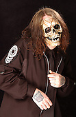 (#0) Sid Wilson – turntables, Slipknot Studio Portrait Session .In Desmoines Iowa.Photo Credit: Eddie Malluk/Atlas Icons.com