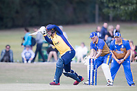 Simon Cook of Essex with a drive through the covers during Upminster CC vs Essex CCC, Benefit Match Cricket at Upminster Park on 8th September 2019