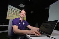 Data analyst Alex Thomas during the Swansea City Training at The Fairwood Training Ground, Swansea, Wales, UK. Wednesday 22 February 2017