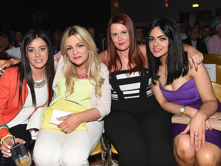 Melissa Boylan, Michelle Rooney, Emma Clarke and Nadine Rooney at the White Collar Boxing in Ardee Parish Centre. Photo:Colin Bell/pressphotos.ie