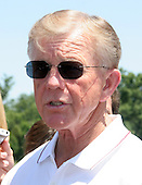 Washington Redskins head coach Joe Gibbs meets reporters during the team's mini-camp at Redskins Park in Ashburn, Virginia on June 16, 2006.<br /> Credit: Arnie Sachs / CNP
