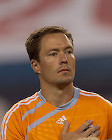 Houston Dynamo defender Richard Mulrooney (8). The New England Revolution defeated Houston Dynamo, 1-0, at Gillette Stadium on August 14, 2010.
