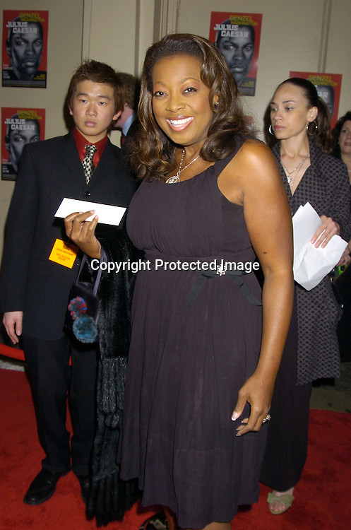 Star Jones Reynolds ..at the Broadway Opening of Julius Caesar on April 3, 2005 at the Belasco Theatre. ..Photo by Robin Platzer, Twin Images