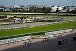 TAKARAZUKA,JAPAN-MAR 07: Race is running without fans at Hanshin Racecourse on March 7,2020 in Takarazuka,Hyogo,Japan. Kaz Ishida/Eclipse Sportswire/CSM