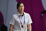 Natsumi Yabuuchi (JPN), <br /> AUGUST 17, 2018 - Basketball : Women's Qualification round match between Japan 73-105 China at Gelora Bung Karno Basket Hall A during the 2018 Jakarta Palembang Asian Games in Jakarta, Indonesia. (Photo by MATSUO.K/AFLO SPORT)