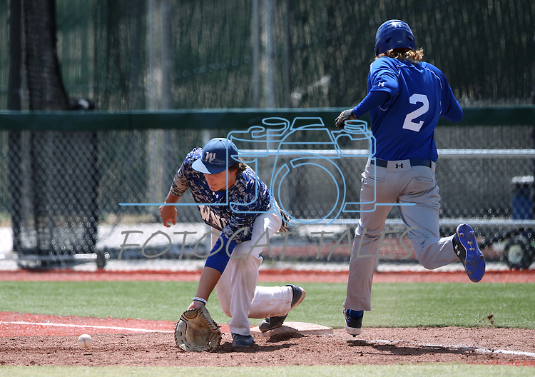 Western Nevada's Daniel Nist makes a play against College of Southern Nevada at Western Nevada College in Carson City, Nev. on Friday, May 6, 2016. <br />Photo by Cathleen Allison/Nevada Photo Source