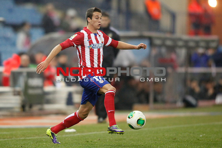 Atletico de Madrid¬¥s Manquillo during Copa del Rey 2013-14 match at Vicente Calderon Stadium in Madrid, Spain. Foto © nordphoto / Victor Blanco) *** Local Caption ***