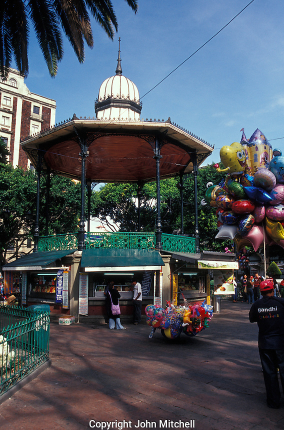 Kiosk designed by Gustave Eiffel in the Jardin Juarez, Cuernavaca, Morelos, Mexico