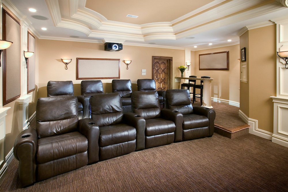 Curved Leather Theater Seating