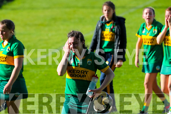 Niamh Leen, Kerry after the game at the Camogie All Ireland Semi Finals at The Gaelic Grounds Limerick on Saturday.