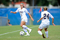 2 October 2011:  FIU's Chelsea Leiva (2) looks to pass the ball in the first half as the FIU Golden Panthers defeated the University of South Alabama Jaguars, 2-0, at University Park Stadium in Miami, Florida.