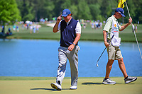 Phil Mickelson (USA) after sinking his putt on 2 during round 2 of the Shell Houston Open, Golf Club of Houston, Houston, Texas, USA. 3/31/2017.<br /> Picture: Golffile | Ken Murray<br /> <br /> <br /> All photo usage must carry mandatory copyright credit (&copy; Golffile | Ken Murray)
