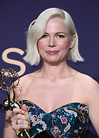 LOS ANGELES - SEPTEMBER 22:  Michelle Williams with the award for Outstanding Directing for a Variety Series at the 71st Primetime Emmy Awards at the Microsoft Theatre on September 22, 2019 in Los Angeles, California. (Photo by Xavier Collin/Fox/PictureGroup)