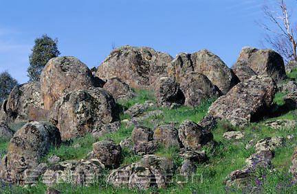 Granite outcrop on top of small hill. Gundagai area, NSW