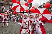 Düsseldorf, Germany. 27 February 2017. Clowns on parade. Carnival parade on Shrove Monday (Rosenmontag) in Düsseldorf, North Rhine-Westphalia, Germany.
