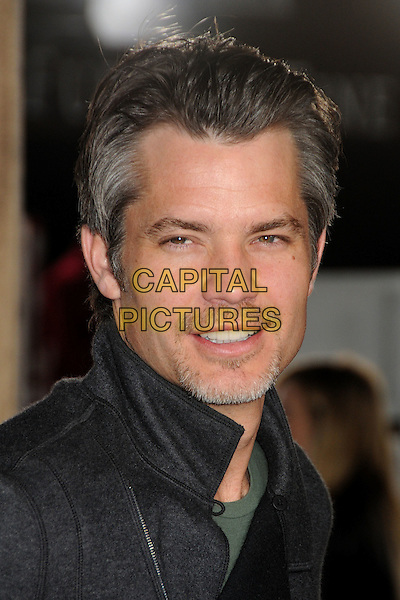 "TIMOTHY OLYPHANT.The L.A. Premiere of ""Rango"" held at The Regency Village Theatre in Westwood, California, USA, .February 14th 2011.headshot portrait black goatee green  facial hair grey gray.CAP/ADM/BP.©Byron Purvis/AdMedia/Capital Pictures."