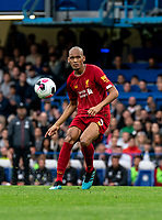 Fabinho of Liverpool during the Premier League match between Chelsea and Liverpool at Stamford Bridge, London, England on 22 September 2019. Photo by Liam McAvoy / PRiME Media Images.