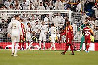 6th November 2019; Estadio Santiago Bernabeu, Madrid, Spain; UEFA Champions League Football, Real Madrid versus Galatasaray; Karim Benzema (Real Madrid)  celebrates his goal which made it 5-0 in minute 81 - Editorial Use