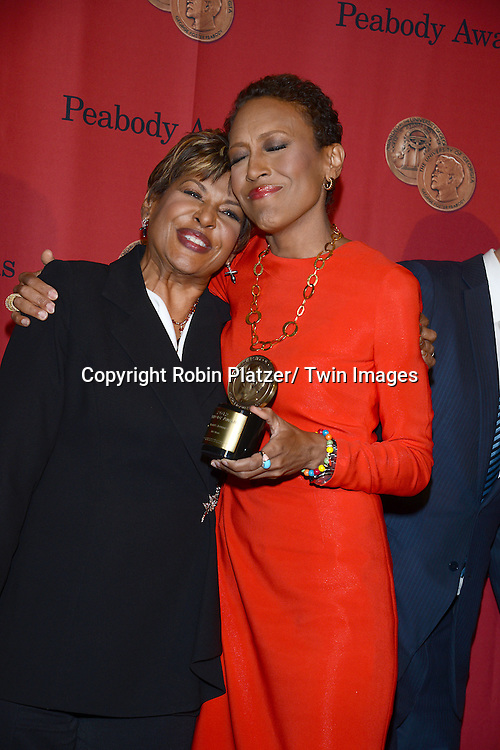 "Sally-Ann Roberts and sister Robin Roberts, winner for ""Robin's Journey"" attends the 72nd Annual Peabody Awards on May 20, 2013 at the Waldorf=Astoria Hotel in New York City."