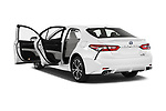 Car images close up view of a 2018 Toyota Camry Hybrid SE 4 Door Sedan doors