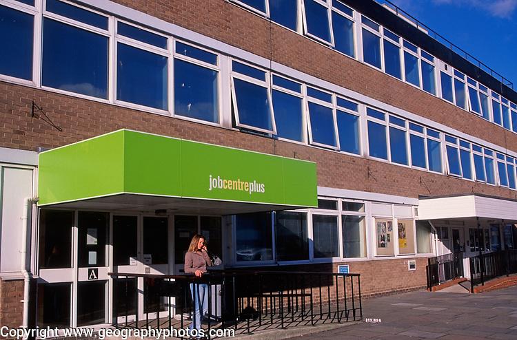 A728K2 Jobcentre Plus British high street Clacton Essex England
