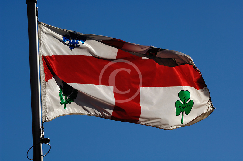 Canada, Montreal, Flag of City of Montreal