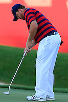 J.B. Holmes US Team takes his putt at the 18th green during Saturday Afternoon Fourball Matches of the 41st Ryder Cup, held at Hazeltine National Golf Club, Chaska, Minnesota, USA. 1st October 2016.<br /> Picture: Eoin Clarke | Golffile<br /> <br /> <br /> All photos usage must carry mandatory copyright credit (&copy; Golffile | Eoin Clarke)
